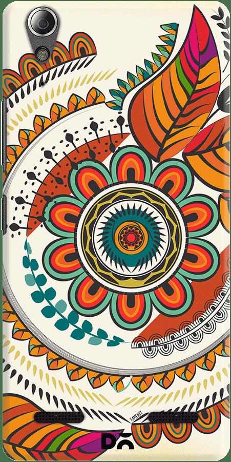 DailyObjects Autumn Warm Colors Mandala Case For Lenovo A6000