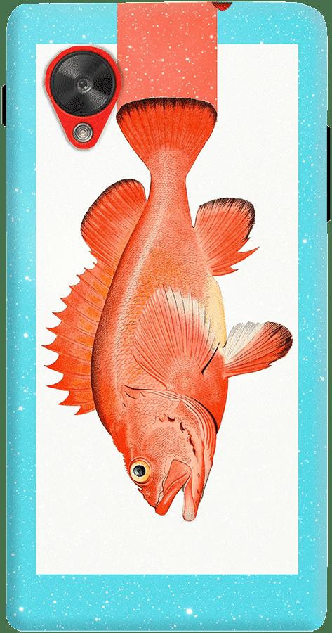DailyObjects Orange Fish Case For LG Google Nexus 5
