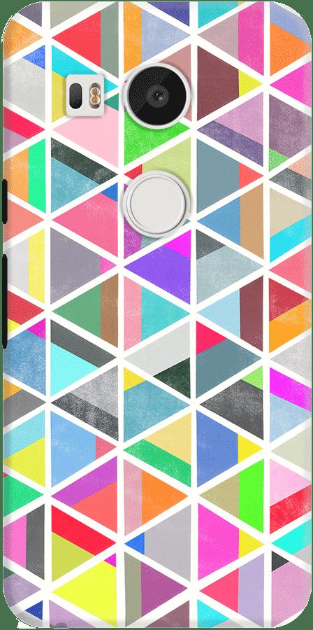 DailyObjects Unfolding Triangles Pattern Case For LG Google Nexus 5X