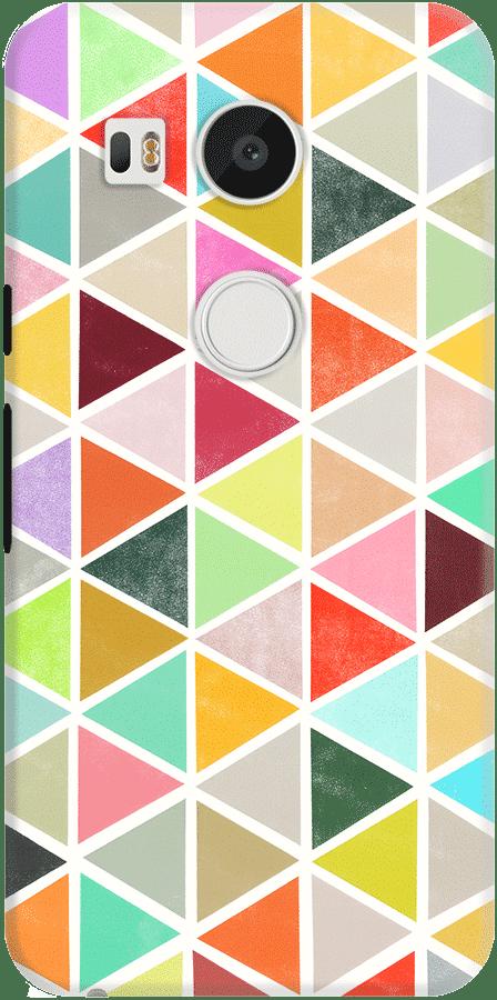 DailyObjects Unfolding Triangles Case For LG Google Nexus 5X