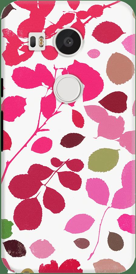 DailyObjects Wildrose Pink Case For LG Google Nexus 5X