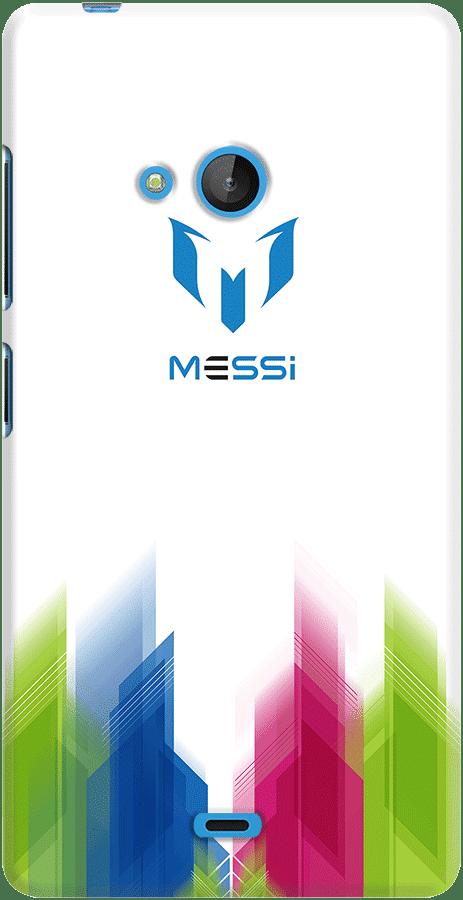DailyObjects Leo Messi Logo Blur Case For Microsoft Lumia 540
