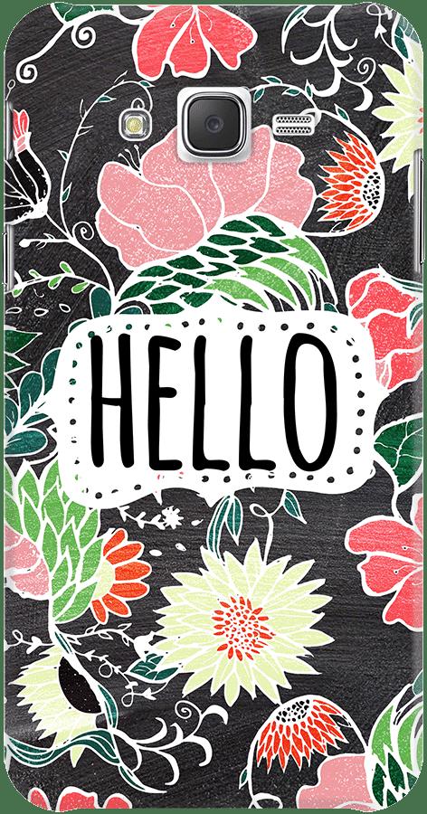 DailyObjects Pastel Preppy Flowers Hello Typography Chalkboard Case For Samsung Galaxy J7