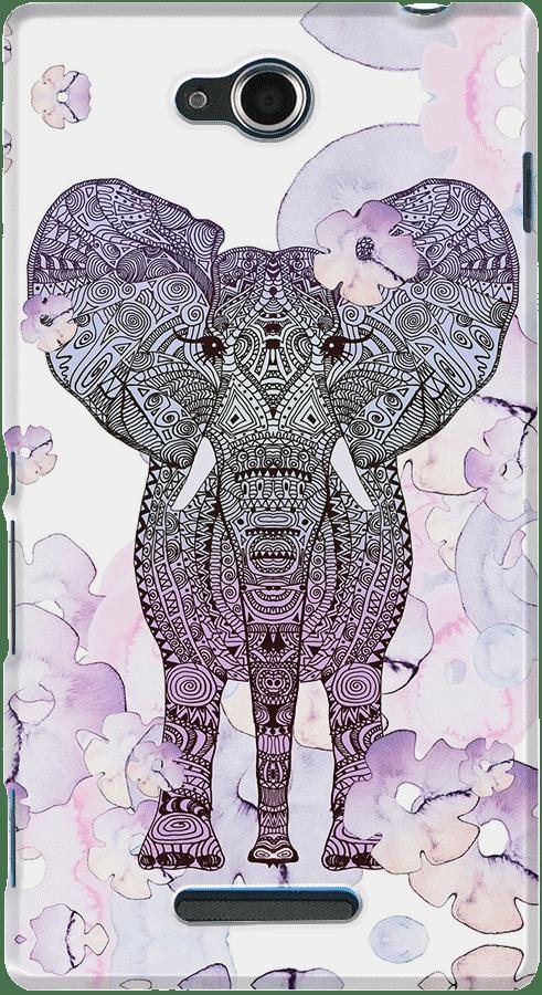 DailyObjects Flower Shower Elephant Case For Sony Xperia C