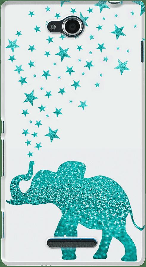 DailyObjects Gatsby Elephant Mint Case For Sony Xperia C